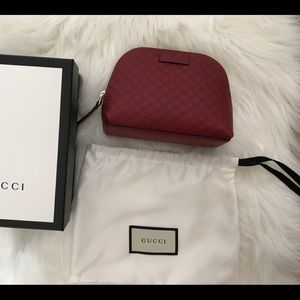 Gucci Red Cosmetic Bag